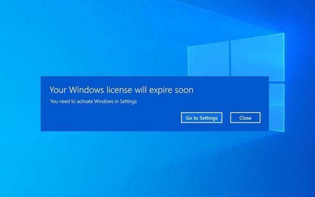 رفع مشکل Your Windows license will expire soon ویندوز